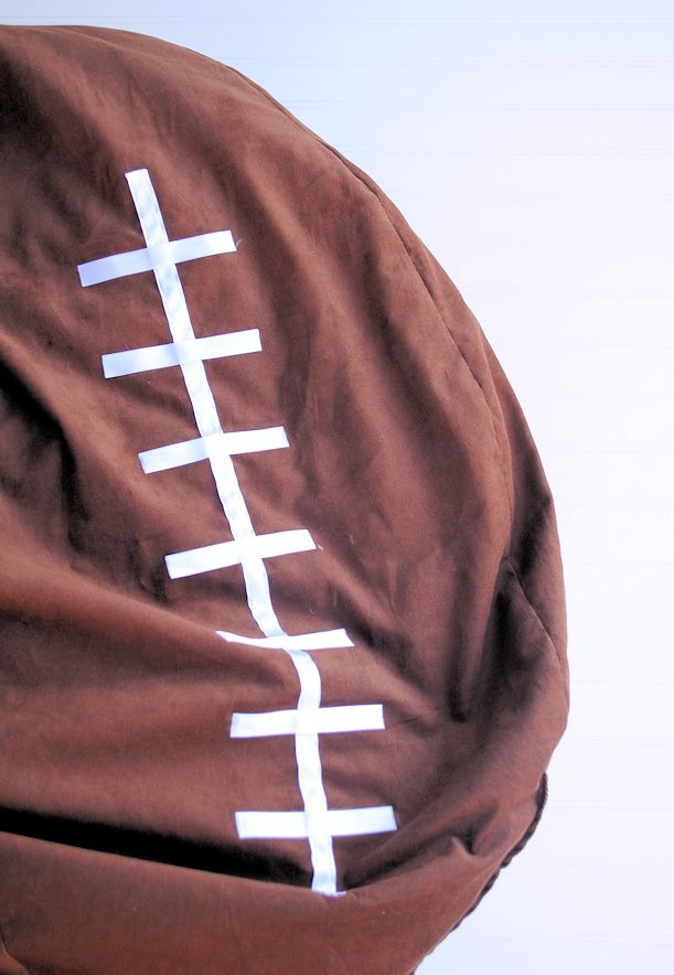 Football Bean Bag Chair Small Tutorial Pillows Aprons Runners Matts Sewing Pillow Crafts