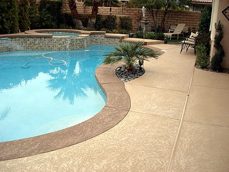 Idea for resurfacing pool deck