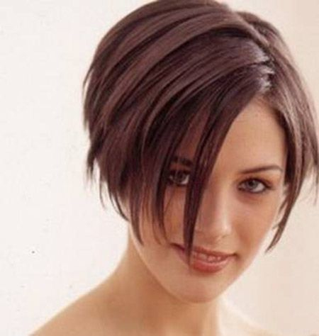 25 Trending Short Hair Long Bangs Ideas On Pinterest
