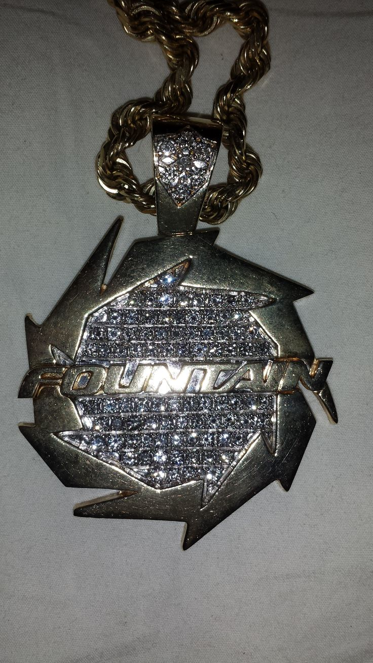 CUSTOM FOUNTAIN POWERBOAT PENDANT FOR SALE