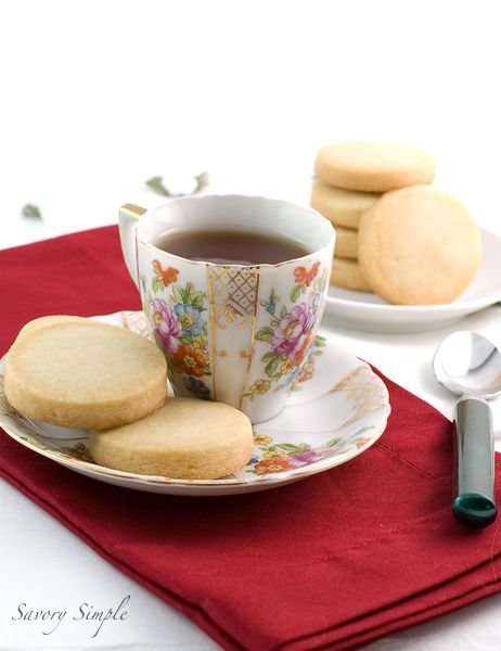 Rose and Orange Blossom Shortbread Cookies - lightly fragrant and ...