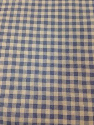 Tessuto cotone vichy azzurro