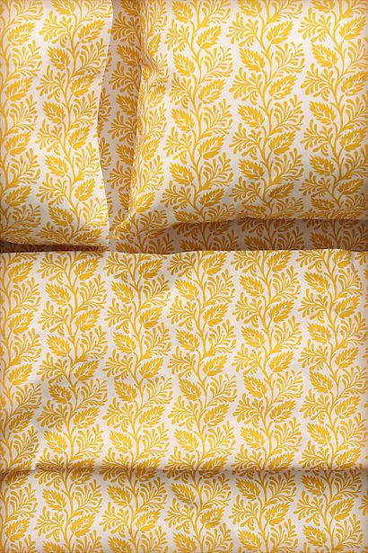 Yellow Printed Bed Sheets: Leaf Sheet, Sheet Sets, Bedrooms Colors, Pattern, Guest Bedrooms, Filigr Leaf, Master Bedrooms, Guest Rooms, Yellow Sheet