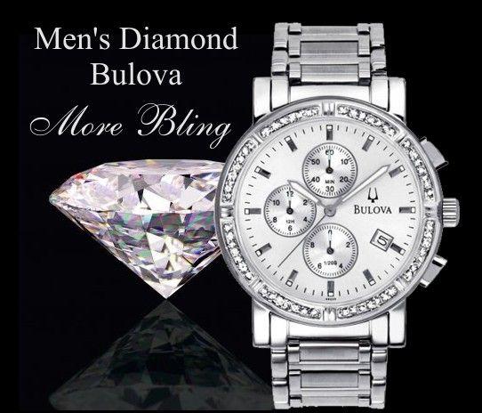 diamonds watches for men | large men s diamond watch men s bulova diamond chronograph