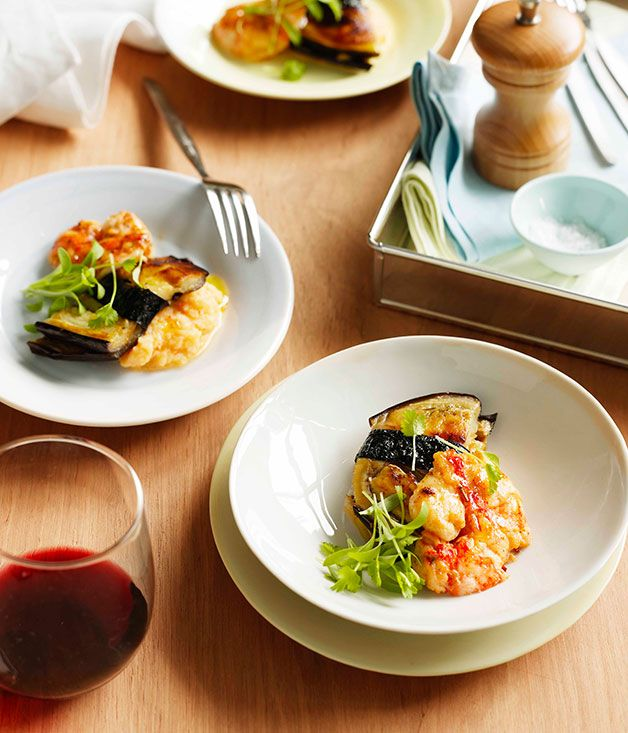 Australian Gourmet Traveller recipe for marron with eggplant, Sichuan pepper and chill.