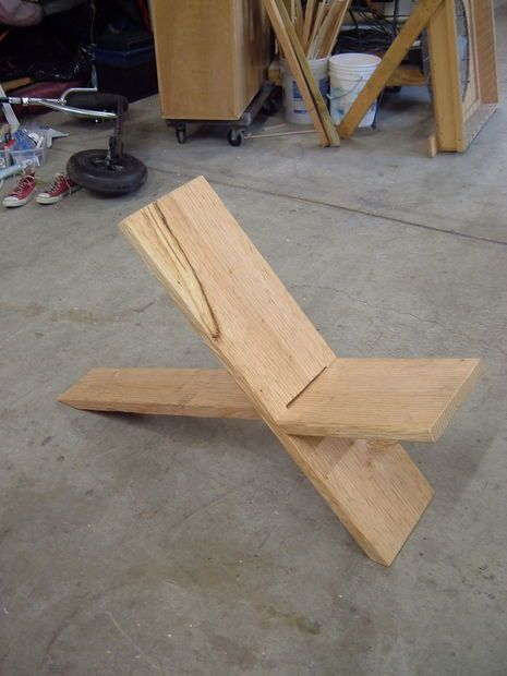 Plank Chair, with the right finish and clean edges could be very cool and modern.