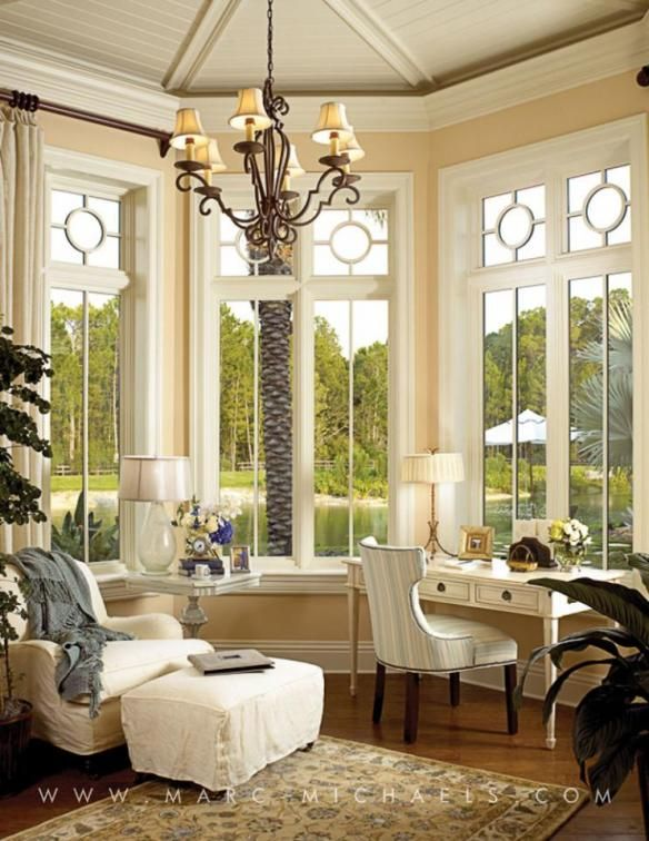 97 best images about office study library french country for Sunroom office design