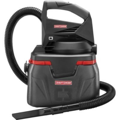 CM C3 WET/DRY VACUUM USES CRAFTSMAN 19.2 BATTERIES (SOLD SEPARATELY) SUPER CONVENIENT NO CORD TO RUN USE ABOUT ANT WHERE! INCLUDES 5 ft HOSE,  ...