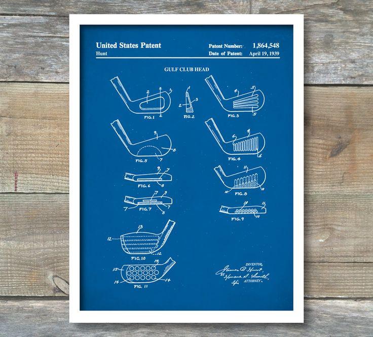 Golf Poster, Golf Art, Golf Club Poster, Golf Wall Art, Historical Golf Poster, Patent Print, Patent Poster, Golf Lover, Golf Clubs, P432 by NeueStudioArtPrints on Etsy