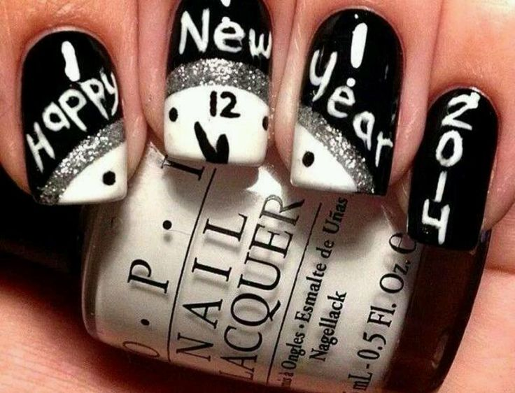 Best 25 new years nails ideas on pinterest new years nail new years nails if i would have done it i would of done red prinsesfo Gallery