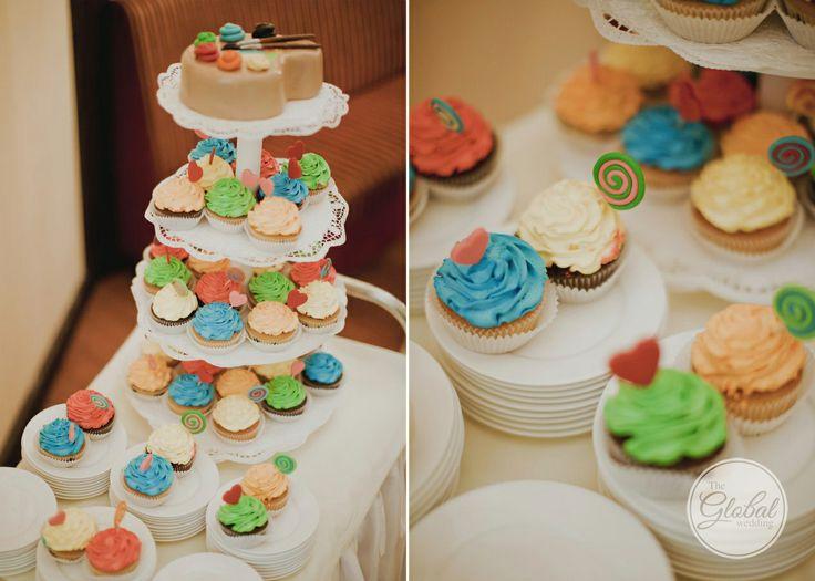 Свадебный торт. Капкейки. Wedding cake. Cup cakes
