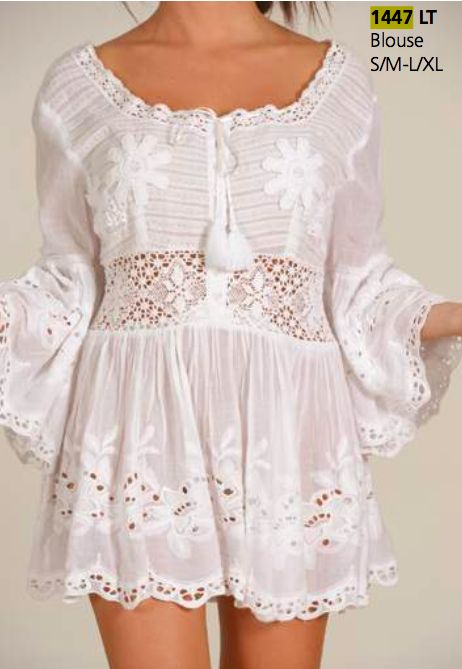 boutique flirt - Antica Sartoria 1447 Blouse or Dress White, $95.00…