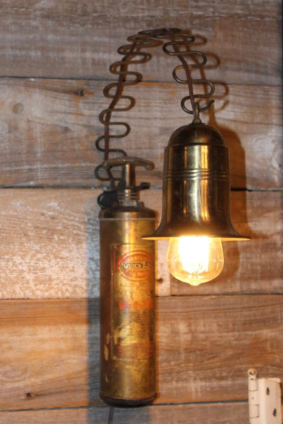 Old Fire Extinguisher Wall Light Upcycled Lights