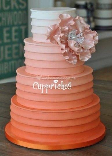 Tortas de matrimonio en Lima. Degradé capas de Cupprichos Cupcakes | Foto 11