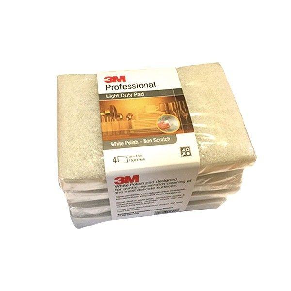 3M Professional Light Duty Pad White Polish - 13cm X 9cm (4 pads / bundle) - Sabut Tidak Menggores u/ Mencuci Alat Masak dll  - Tapas pembersih yang didesain untuk membersihkan permukaan yang halus - Tanpa menggores - Kuat dan tahan lama  Price per Bundle (4 Pads)  http://tigaem.com/produk-pembersih/1535-3m-professional-light-duty-pad-13cm-x-9cm-4-pads-box.html  #scotchbrite #polish #3M