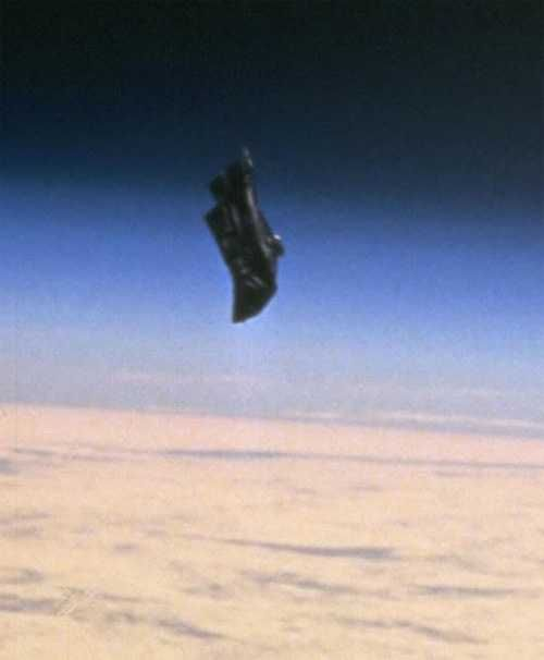 """There's a probe that comes very close to the Earth every 15 or 20 years and we've been calling it an asteroid. It's not an asteroid. But it actually in reality is an artificial probe. It's called the Black Knight Satellite and was discovered in 1927, has been photographed by NASA, and was recorded as taking corrective action when on course to hit another """"asteroid"""". The Black Knight satellite will come close to Earth again in 2016..."""