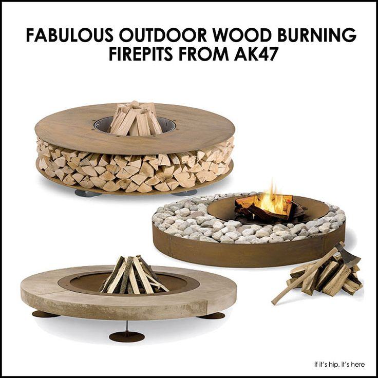Wood-burning fire pits in easy-to-assemble kits. More at http://www.ifitshipitshere.com/three-super-hot-outdoor-wood-fireplaces-from-ak47/