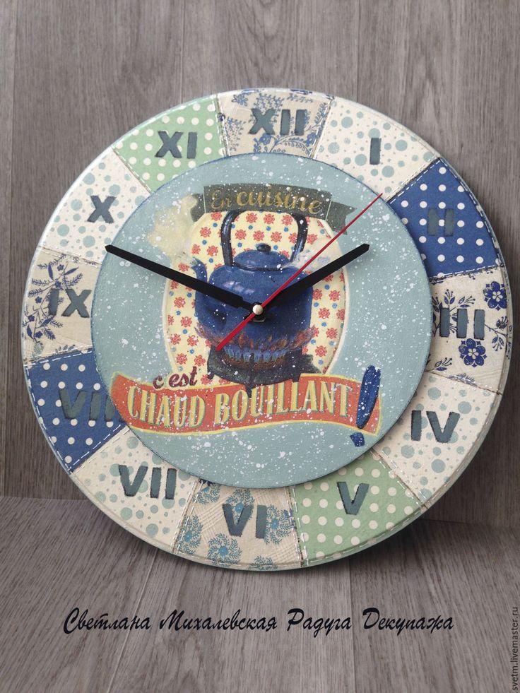 Купить Часы настенные кантри Утренний чай кухня винтаж чаепитие декупаж