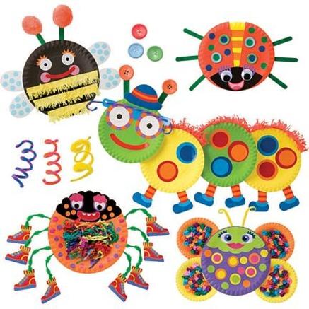 insectes en assiette de carton pour les petits