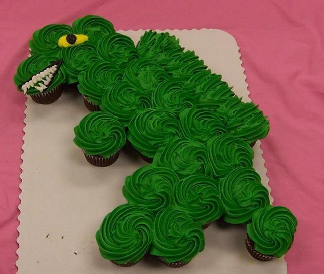 Dino Cupcake- cute idea for kids birthday party!
