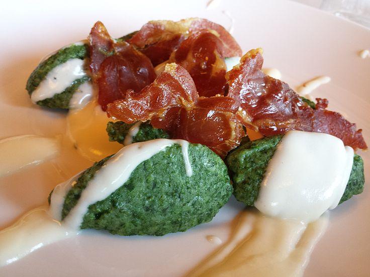 Spinach Gnocchi with Smoked Ham & Cheese. Villaverde bar&Restaurant, Fagagna - Italy