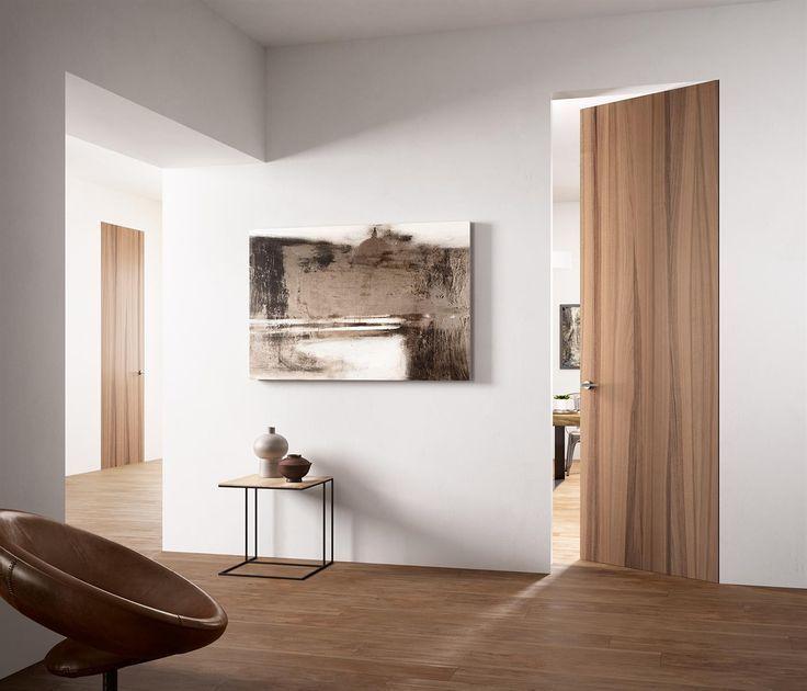 Image Corridor With Wooden Door And Parquet Directportes Fr Image Corridor With Wooden Door And Parquet Directport Doors Interior Modern Door Wooden Doors