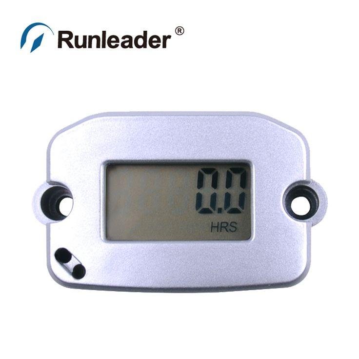 Runleader HM022 Waterproof 2/4 stroke Spark Plugs Engine Digital Inductive Tach Hour Meter Gauge Tachometer for motorcycle atv