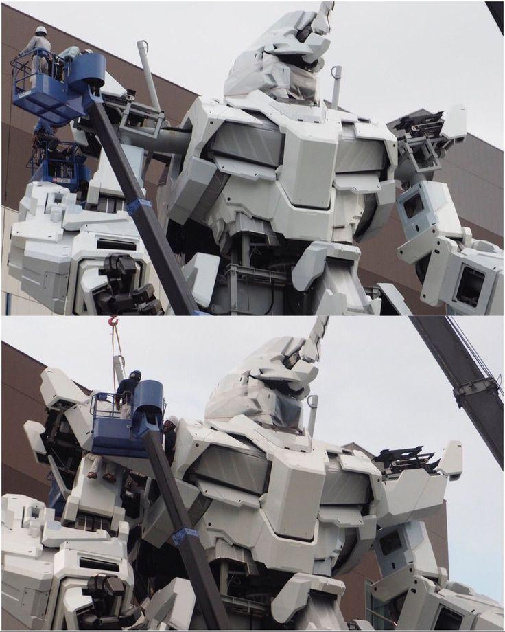 The Life-Sized Unicorn Gundam Statue: Work In Progress (Update 22th August 2017) No.8 NEW Images, credits http://www.gunjap.net/site/?p=324756