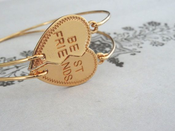 Best Friends Bracelets Set of Two Connecting by PeculiarCollective