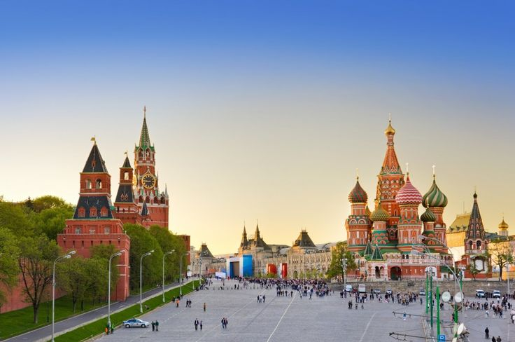 Sunset, St. Basil's Cathedral, Red Square, Moscow