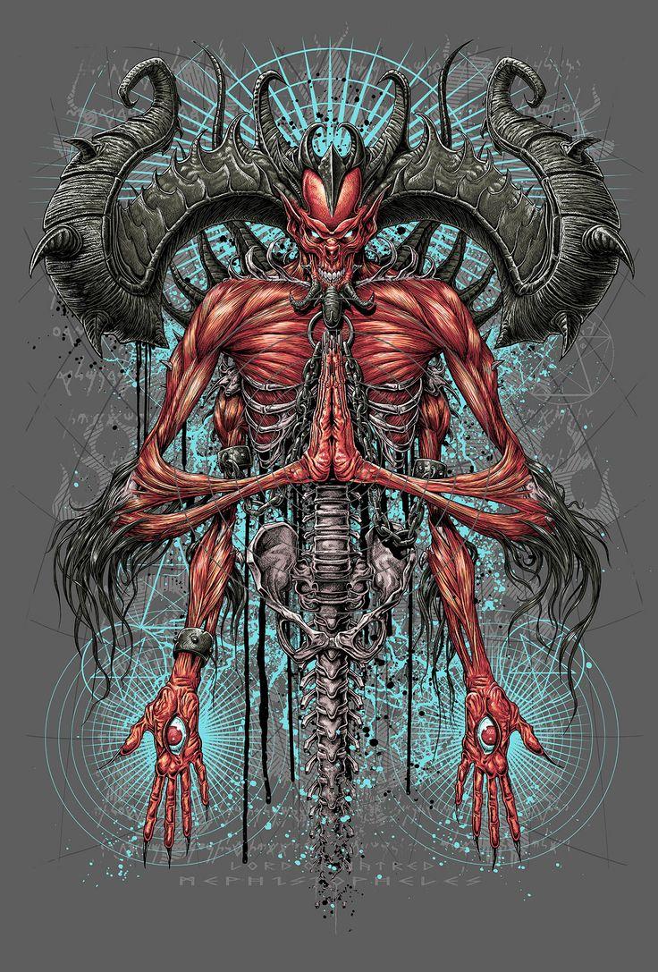 Diablo 3 -Mephisto by MATT ROBINSON for Design By Humans ...