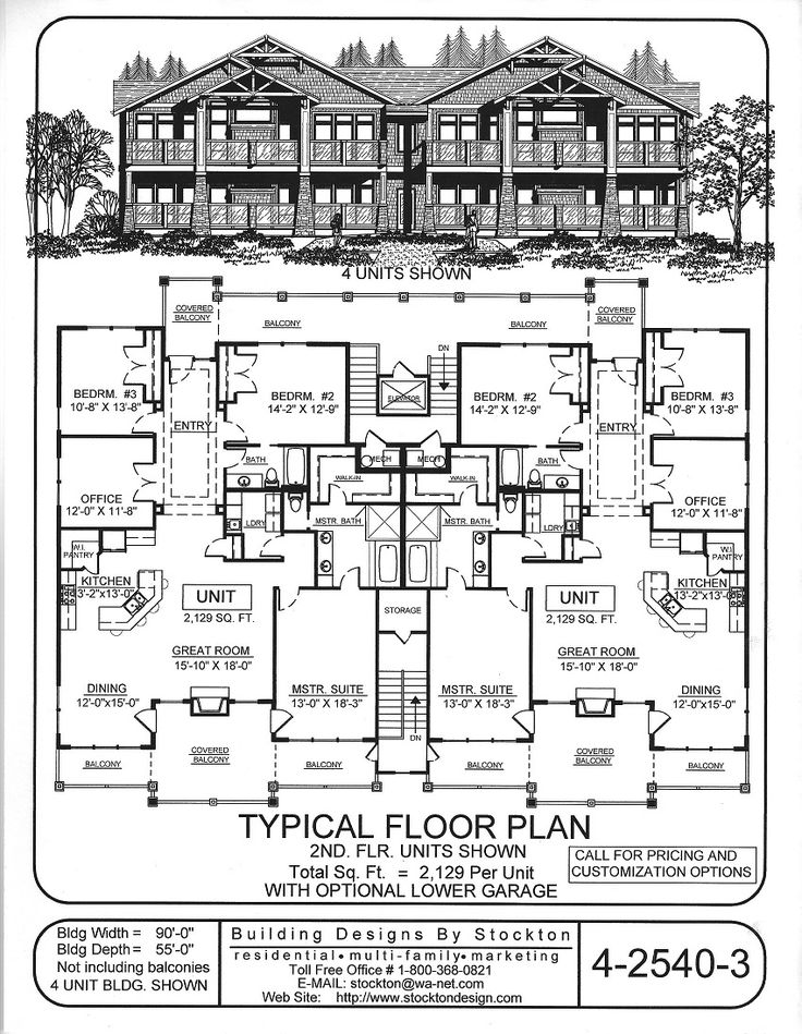 554 best plans images on pinterest house blueprints 2 unit building plan