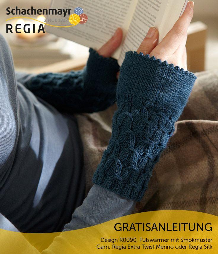 Diese modischen Pulswärmer geben nicht nur warm, sie sehen auch richtig toll aus! Ihren besonderen Charme erhalten diese Pulswärmer durch das Smokmuster, das ihnen einen besonderen Touch verleiht. Die edle Merinowollmischung und die extra gezwirnte Garnstruktur der Schachenmayr #Regia Extra Twist Merino gewährleisten einen unvergleichbaren Tragekomfort und sorgen dafür, dass die Pulswärmer sehr weich und angenehm zu tragen sind. Sie können die Pulswärmer aber auch in Schachenmayr #Regia Silk…