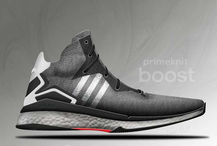 My creation of the Adidas Primeknit turned into a Boost Basketball shoe