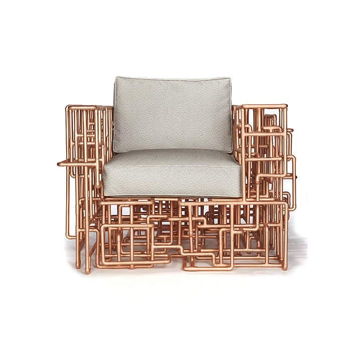 American Pipe Dream Chair: Copper Piping Furniture By BRC Designs