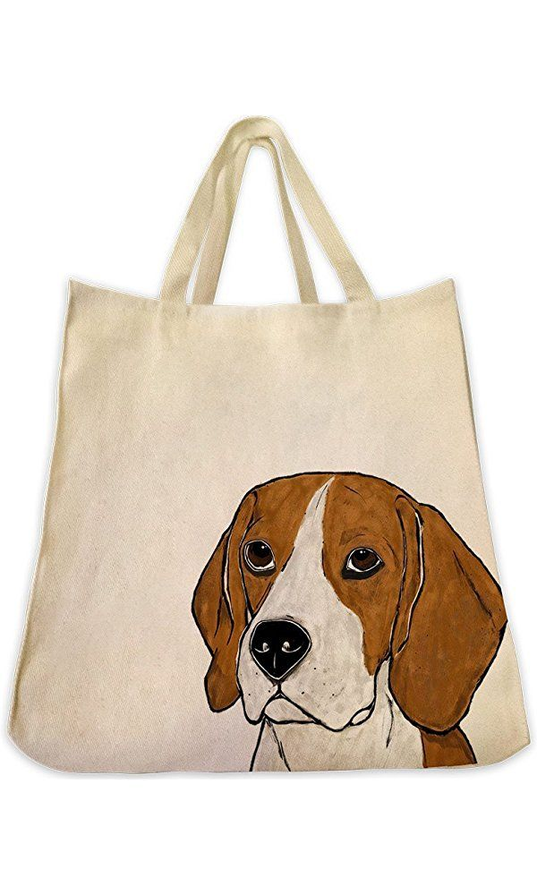 Beagle Dog Extra Large Eco Friendly Reusable Cotton Twill Grocery Shopping Handbag And Tote Bag Best Price