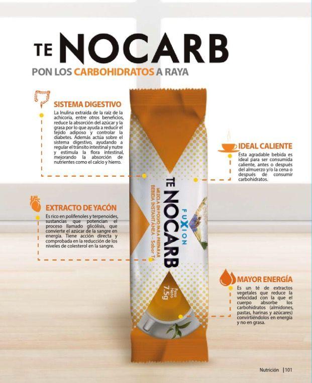 Convierte los #carbohidratos en #energía y acelera tu metabolismo con #TéNocarb de #FuXion Información y pedidos para España / Europa Info@bebidasfuxion.es