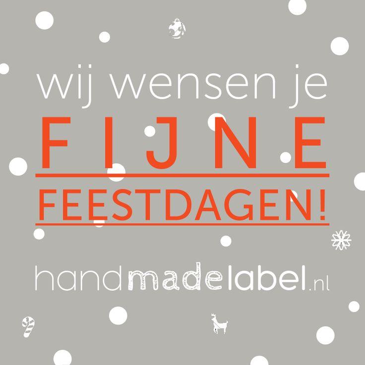 HandMadeLabel wenst iedereen fijne feestdagen en een goed 2014!