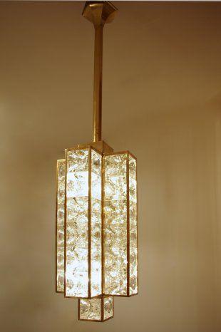Light fixture with glass cubes from 1970 - Jean Luc Ferrand Antiquités #antiques #modern
