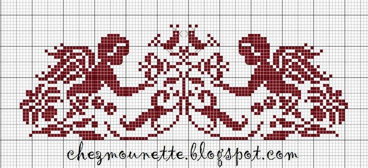 Cherub Silhouette free cross stitch pattern