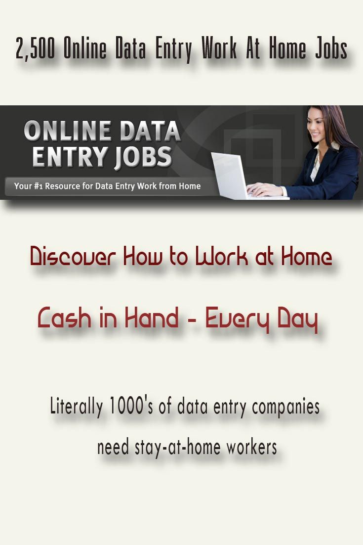 Employment & Jobs / 2,500 Online Data Entry Work At Home Jobs ...