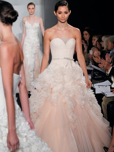 Peach wedding dress my style pinterest peach for Peach dresses for wedding