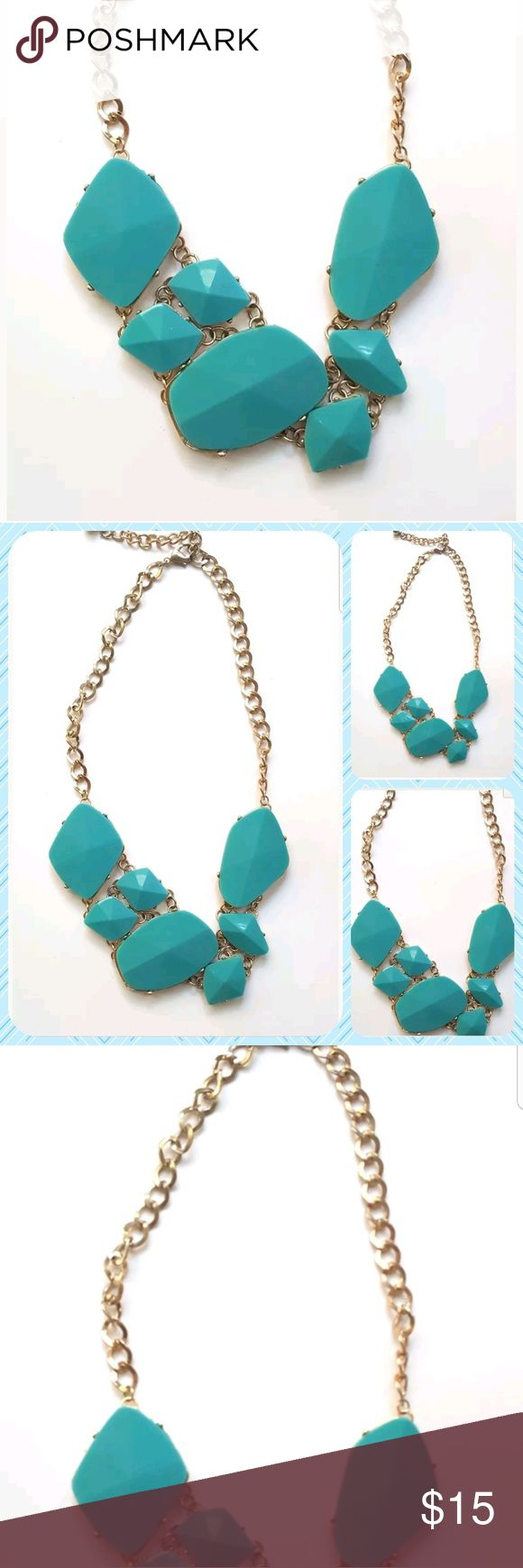 Saks Off 5th Avenue Statement Necklace Turquoise Saks Off 5th Avenue Statement Necklace Turquoise Color Fashion Jewelry   VGUC Saks Fifth Avenue Jewelry Necklaces