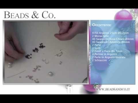 """Tutorial per fare Orecchini e Perle di Argento lavorate. Visita la il nostro sito http://www.beadsandco.it alla sezione """"Idee Kit"""" e scopri quanto è semplice creare un vero gioiello """"fai da te"""". Entra nella nostra community di amanti dei gioielli fai da te: http://www.beadsandco.it/mybeads/  Lezione 18"""