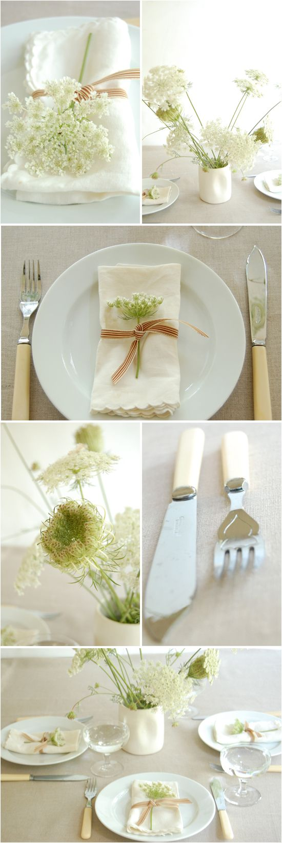 Queen Anne's Lace - I love how pretty this looks.  Maybe for a bridal shower?