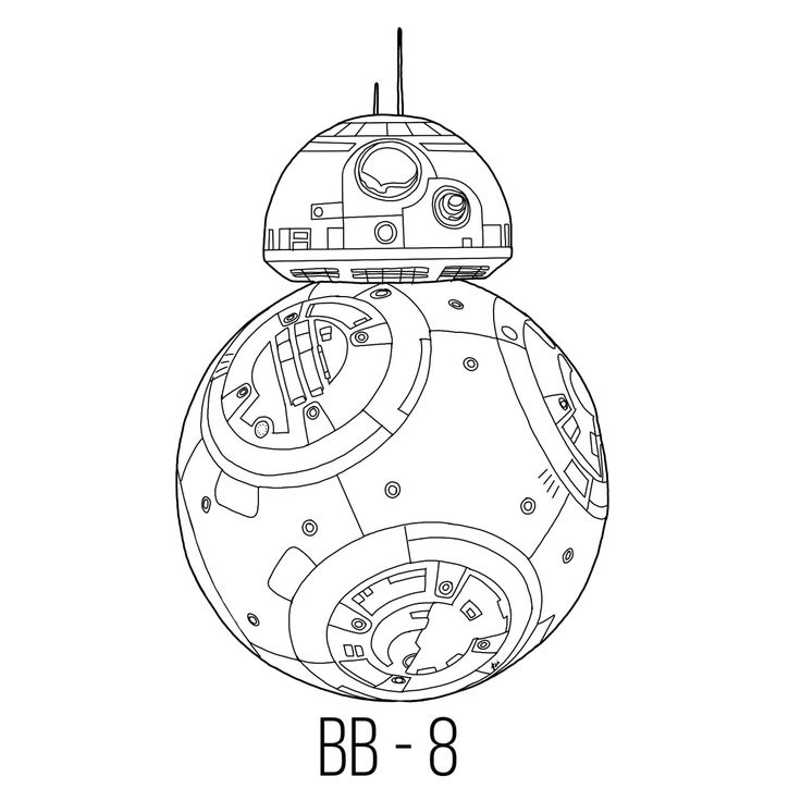 26 best images about colouring on pinterest coloring for Star wars bb8 coloring pages