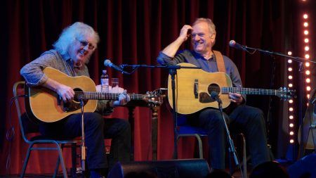 Ralph McTell and Wizz Jones play Backstage for Mundell Music In Kinross