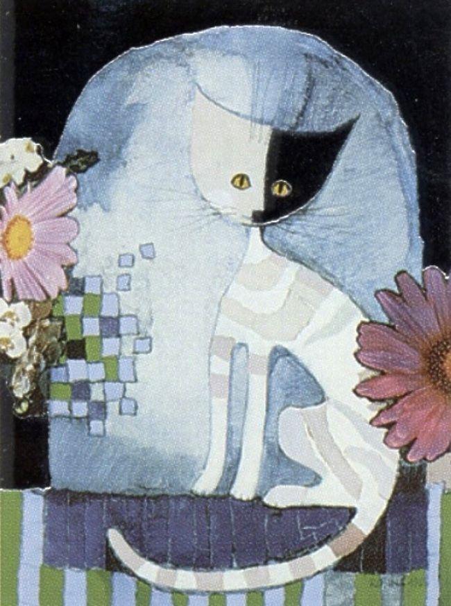 """Cat"" par Rosina Wachtmeister"