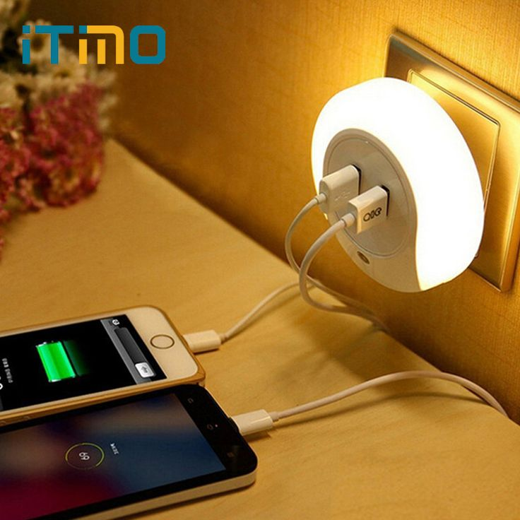 Cheap lamp bulb light, Buy Quality lamp light bulb directly from China light bulbs energy saver Suppliers: Novelty LED Night Light with 2 USB Port for Mobile Phone Charger Light Sensor Atmosphere Lamp For Bedroom Living Room Warm White