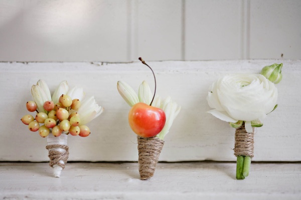 cherry boutonniere, Atlanta Photo shoot from Pretty Swell Parties